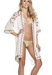 Kimono Knee Length Dress with Cold Shoulder