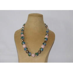Full Bead Painted Pottery Necklace