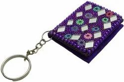 Handcrafts Beaded Key Chain for Gift