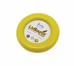 Yellow Round Promotional Acrylic Paper Weight - Desktop Gifts for Office