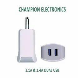 2.4Amp Dual USB Ultrasonic Mobile Charger