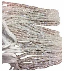 AAA Rainbow Moonstone Faceted Rondelle Beads 4mm