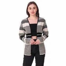 Woolen Striped Shrug