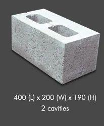 2 Cavities Cement Hollow Bricks