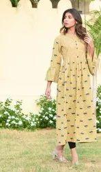Cotton Flex Printed Gown Style Kurti