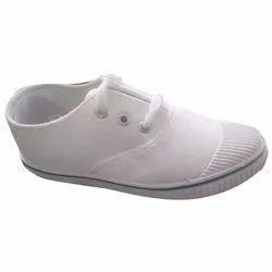 Canvas White Pt School Shoes, Size: 6-12
