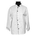 White Cotton Full Sleeve Chef Coat, Size: 38 - 44