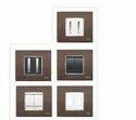 8 Module Black Wood Horizontal Modular Switch Plate