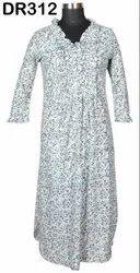 Cotton Hand Block Women's Long Dress DR312