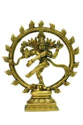 Nataraja Brass Collectible Handicraft Art by BharatHaat BH06882, Size: 15 X 3 X 16 Cm