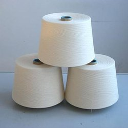 Open end Plain Bleach white Cotton Yarn, For Garments, Count: 20