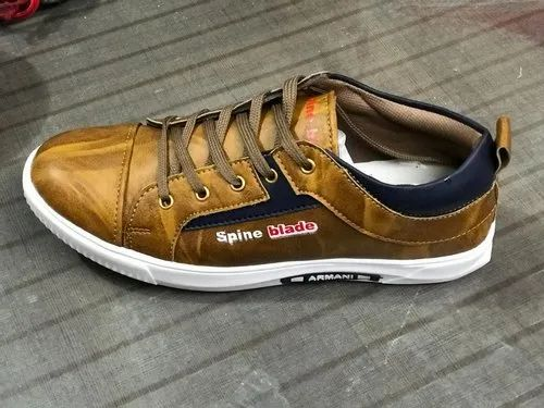 Leather and Canvas Men Casual Shoes