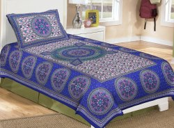 Traditional Cotton Single Bedsheet