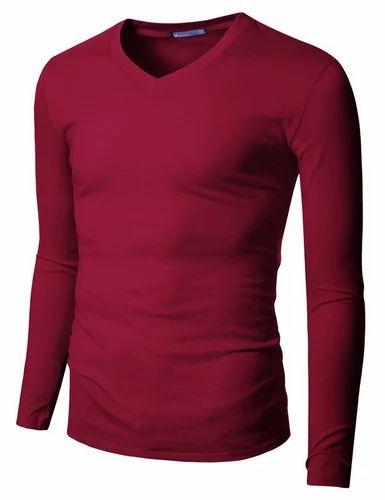 0f0fd40bac1 Black   Blue Cotton Mens Full Hand T Shirt