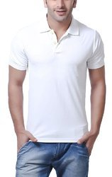 Plain Collar Polyester Collar T- Shirt
