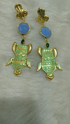 Meena Painted  Earrings