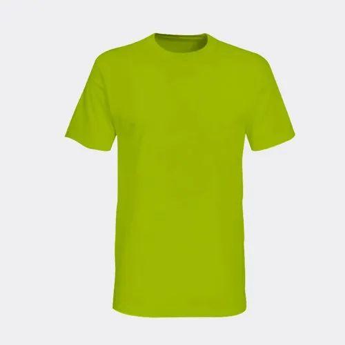 0d8ca2594 Large Parrot Green Plain Men Cotton Sublimation T-Shirt, Rs 145 ...