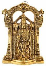 Bharat Handicrafts Gold Plated Lord Venkateswara Tirupati Balaji Decorative Idol Wall Hanging