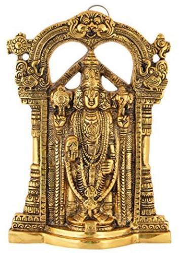 Gold Plated Lord Venkateshwara