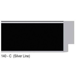 140-C Series Silver Line Black Photo Frame Molding