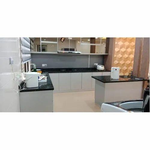 Aluminium Modular Kitchen Kitchen Cabinets Rs 2100 Square Feet