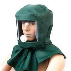 PVC Green Sand Blasting Hood with Airline Filter