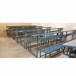 Metal Bench and Desk