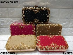 Embroidered Party Wear Box Clutch