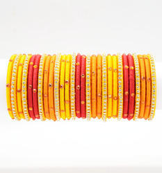 Multicolor Silk Thread Bangle