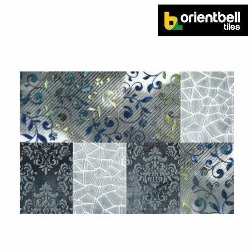 Orientbell Tiles Orientbell Otf Polyster Leaf Decorative Wall Tiles