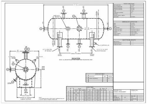 Pressure Vessel Ga Drawings At Rs 1 Unit प र शर व सल ड ज इन Pressure Vessel Designing Manjughosh Engineering Service Delhi Id 22031542312