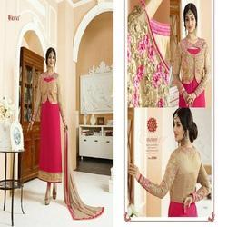 Designer Embroidery Georgette Long Suits