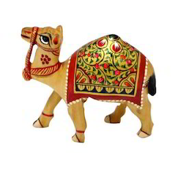 Wooden Meenakari Camel
