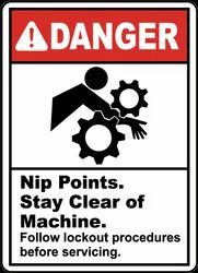Industrial Safety Signage Sticker for Industrial Machinery
