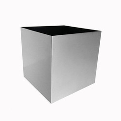 Polished Aluminium Cube