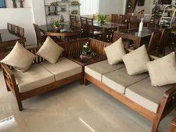 Teakwood Modular Wooden Sofa Set, For Home