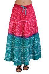 Colorful Bandhej Skirt