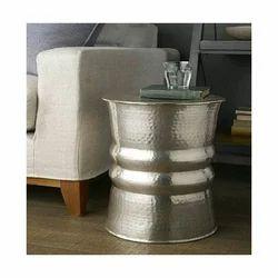 Round Aluminium Hammered Coffee Table