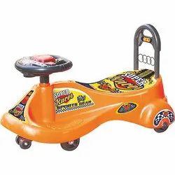 Orange And Grey ABS Plastic Sports Gear Toy Car, For School/Play School