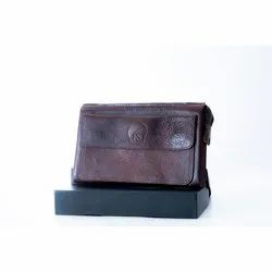 Brown Leather Passport Folder, For Office