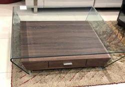 Brown Wooden Center Table AF/JJ-6021, Warranty: 1 Year, For Living Room