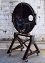 Rustic Industrial Wheel Bar Cart