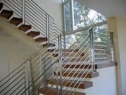 Round Polished Stainless Steel Pipe Railings - 3/4 inch, 19m