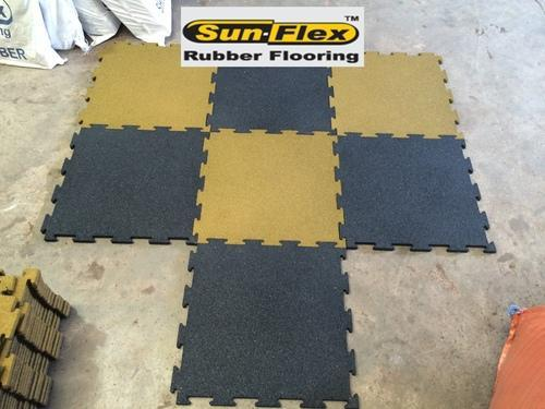 Sunflex Green Interlocking Rubber Tiles 15 20 Mm