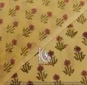 Colorful Small Floral Hand Block Print 100% Cotton Fabric
