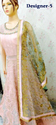 Designer Heavy Work Jaal Dupatta Anarkali Party Suits