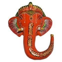 Wooden Painted Ganesha Hanger