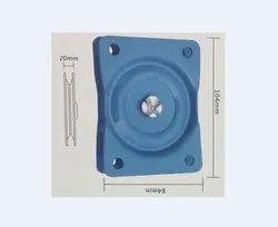 Blue Rectangular Revolving Chair Mechanism, Size: 100 Mm
