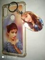 Plastic White Photo Printed Mobile Back Cover With Key Chain