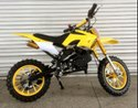 Yellow 50cc Kids Dirt Bike